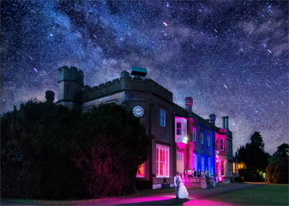 outdoor lighting at Nonsuch Mansion
