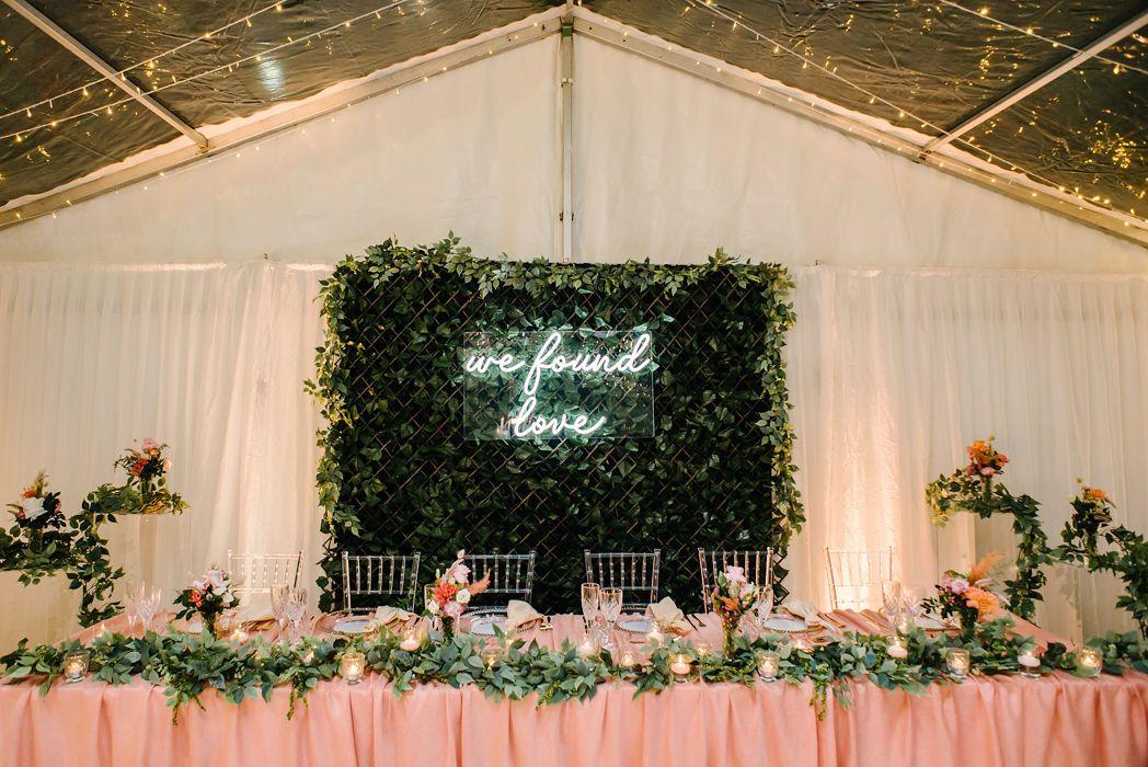 We Found Love Neon Led Wedding Light
