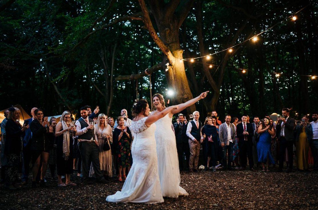 DJ woodland wedding in Buckinghamshire