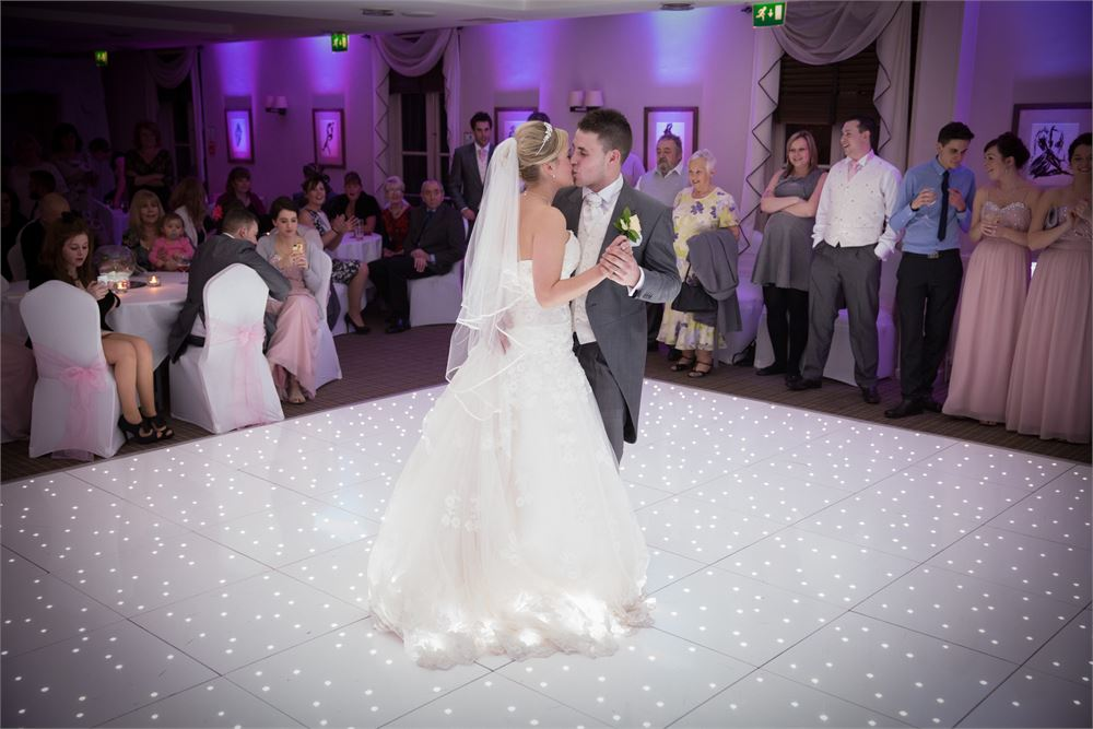 White LED Dancefloor Hire Highfield Park