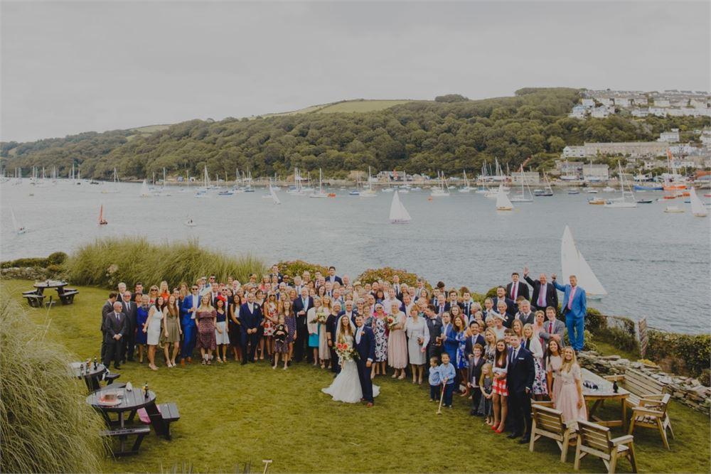 Fowey Harbour Hotel wedding photographer