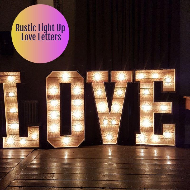 Light up wedding love letters in Buckingham