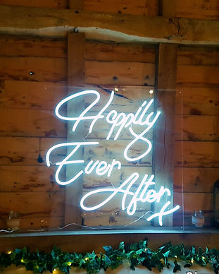 Happily ever after neon signDance again