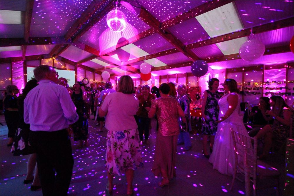Acorn Barn wedding DJ Disco Oxford