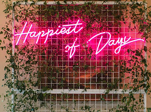 happiest of days wedding neon sign light