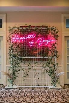 happiest of days wedding neon sign light