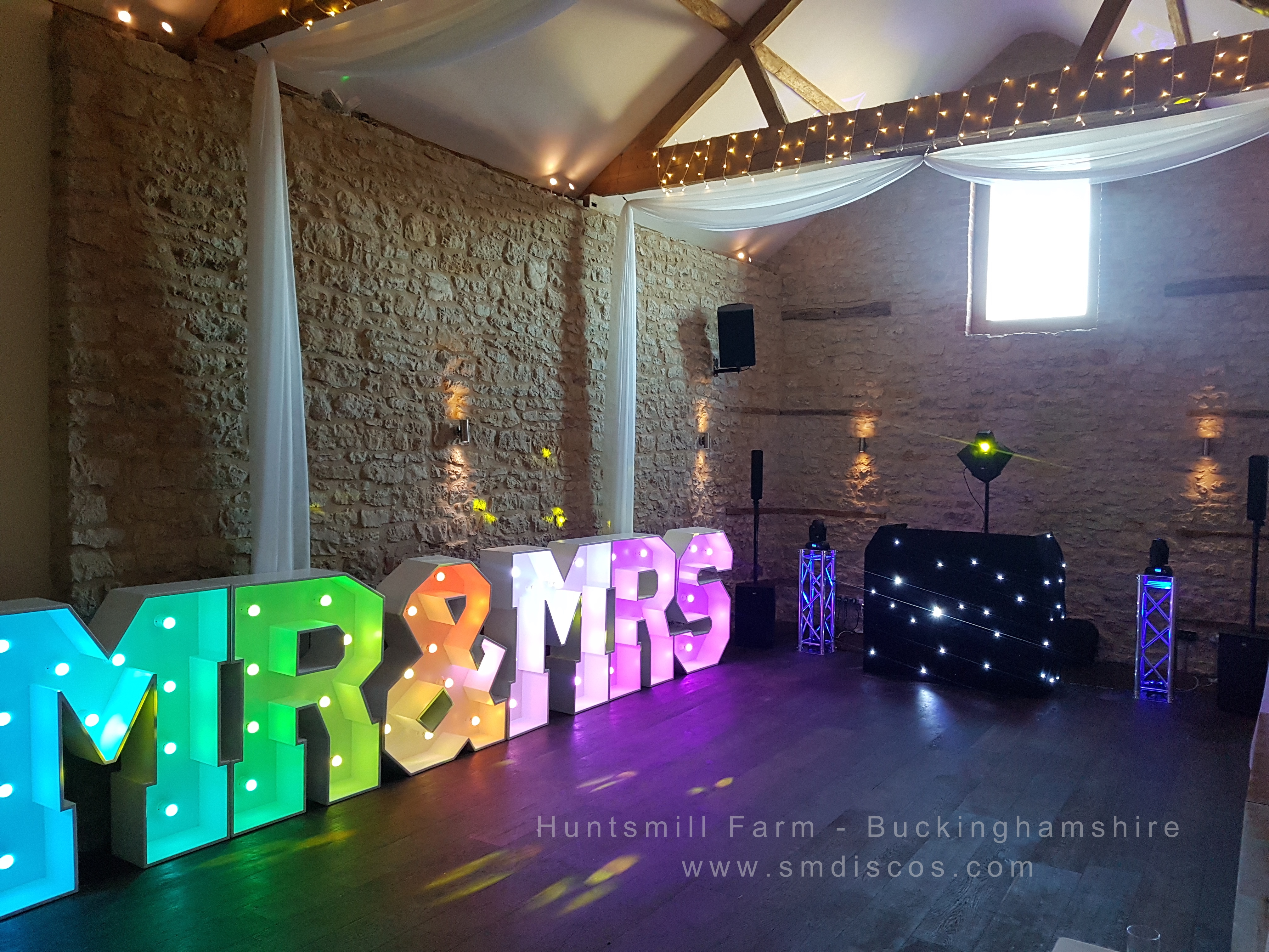 Hunstmill Farm Wedding DJ Disco