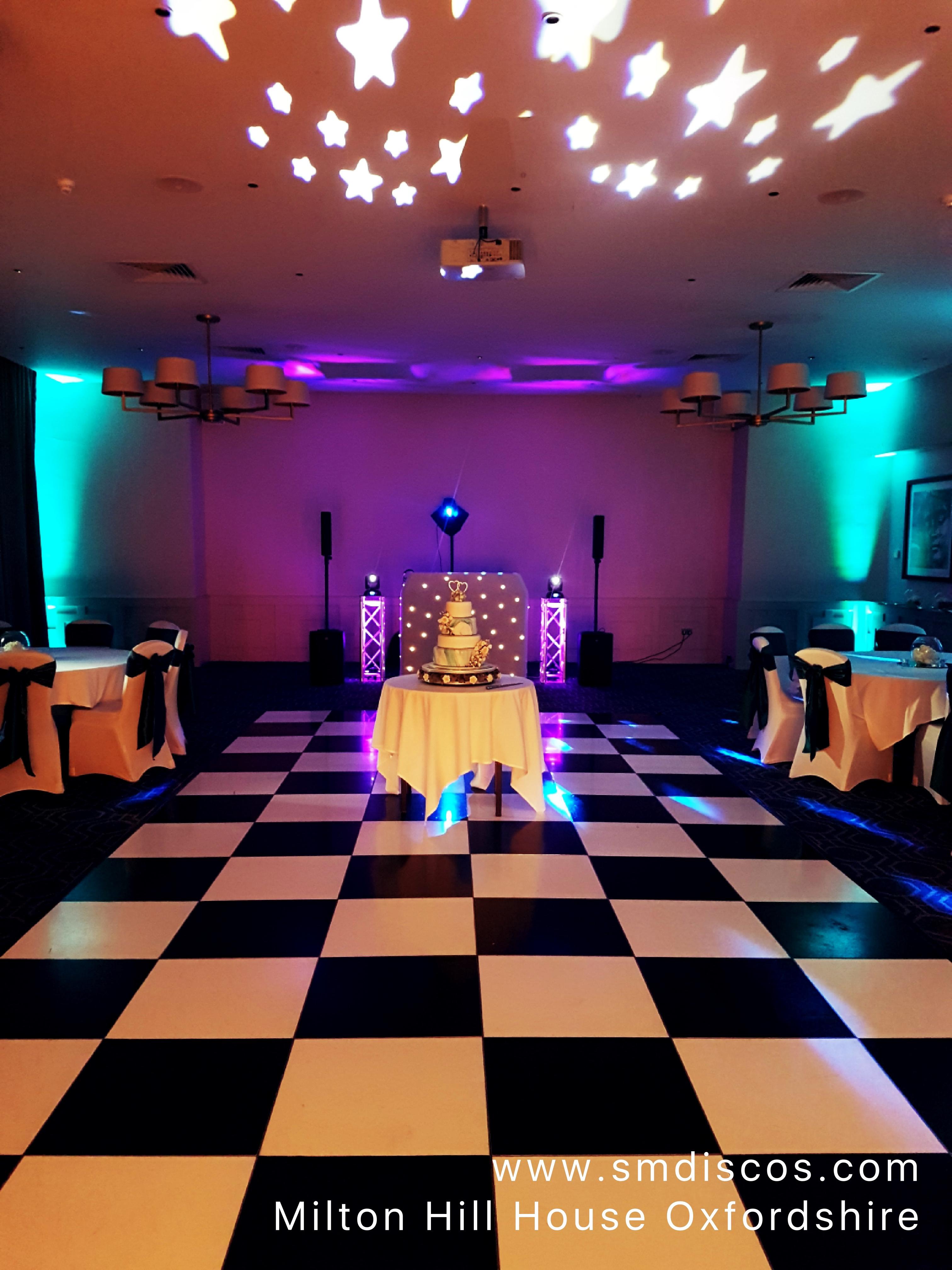 Milton Hill House Wedding Lighting DJ