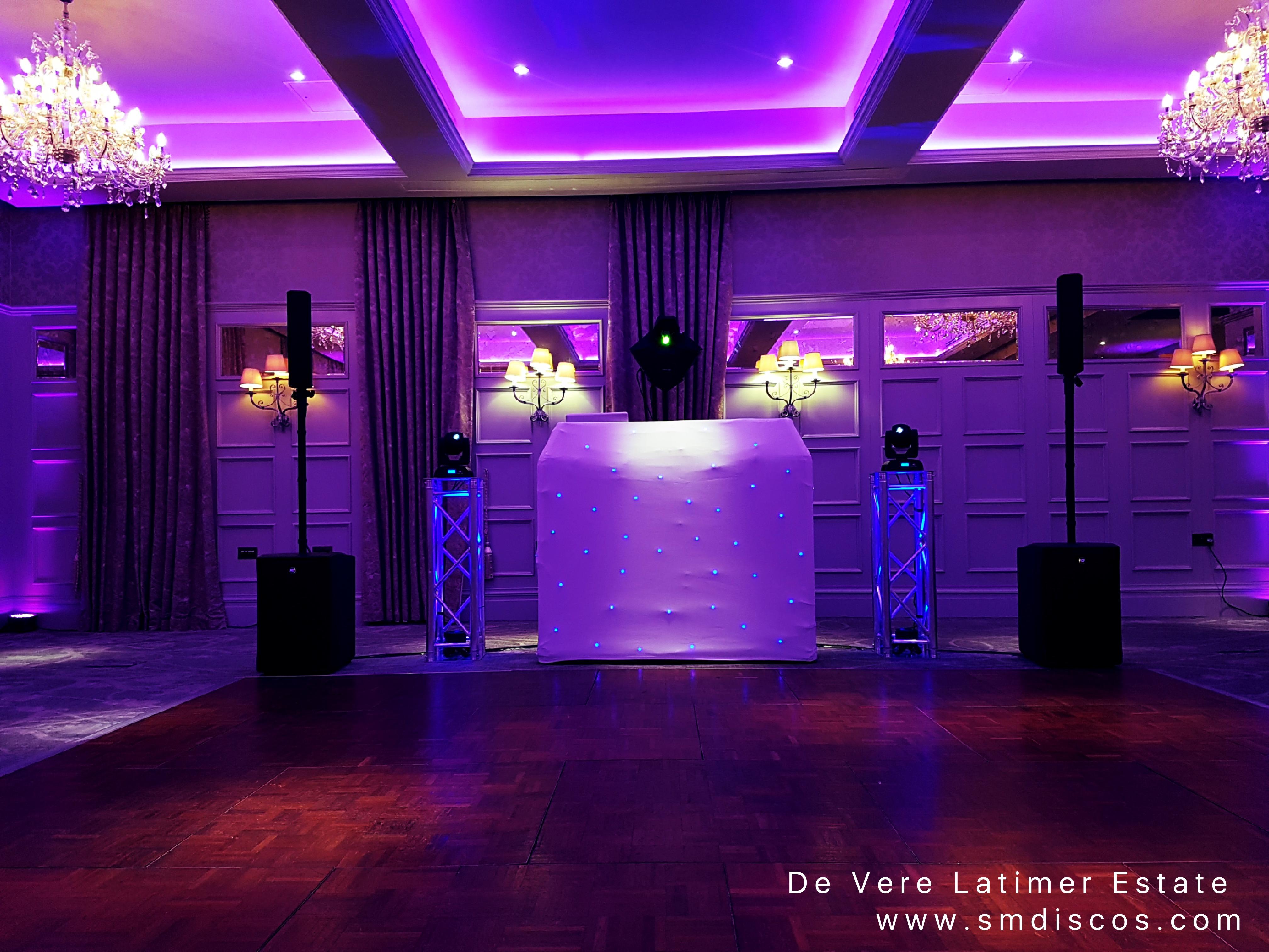 Wedding DJ Disco De Vere Latimer Estate.