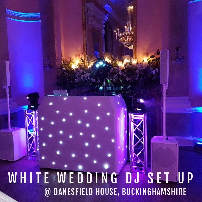 White Wedding DJ Set Up