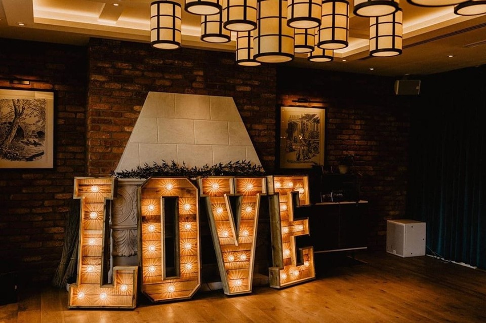 Great House in Sonning Wedding Letters