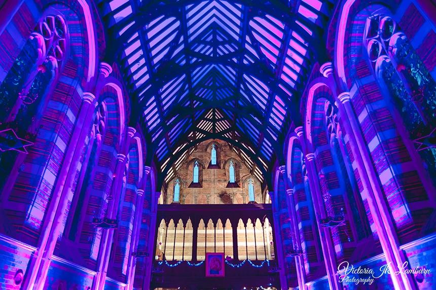 All Saints Chapel wedding dj disco