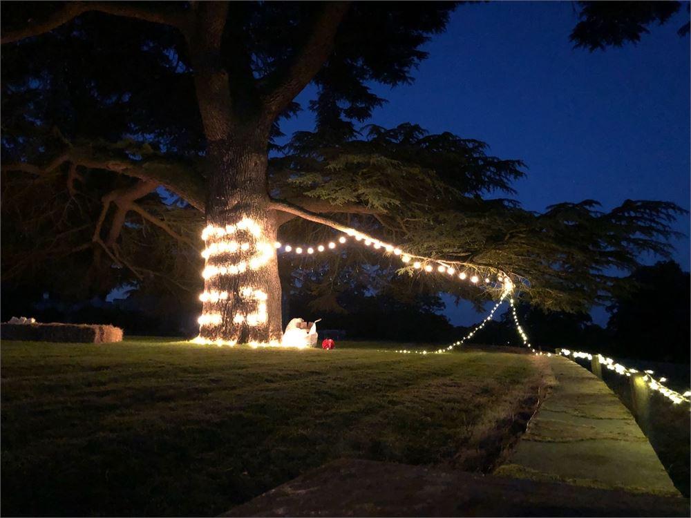 Turvey House WEDDING LIGHTING