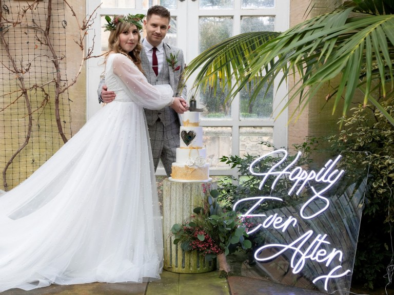 happily ever after wedding neon sign