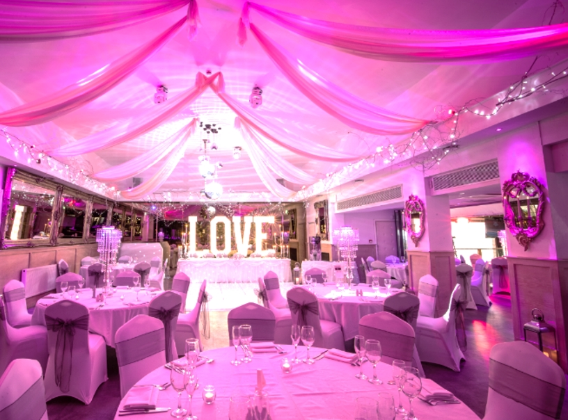 light up letter hire at The Kings Oak Ho