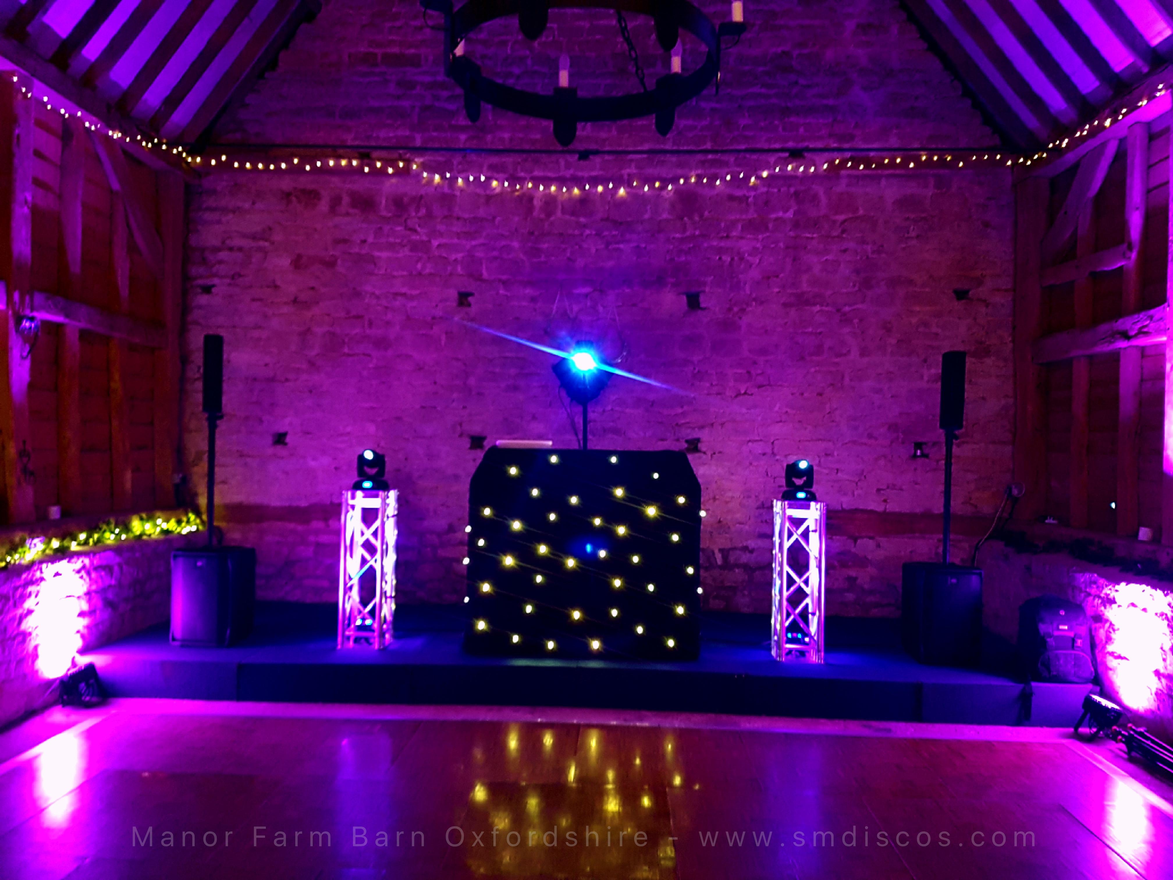 Black starlight DJ booth