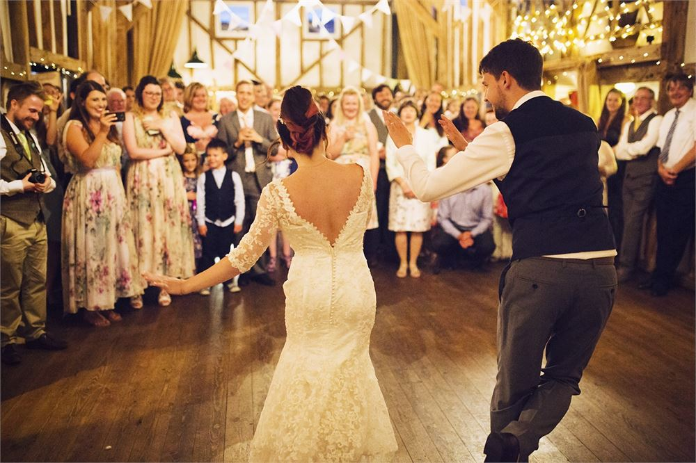 first dance at Pitt Hall Barn