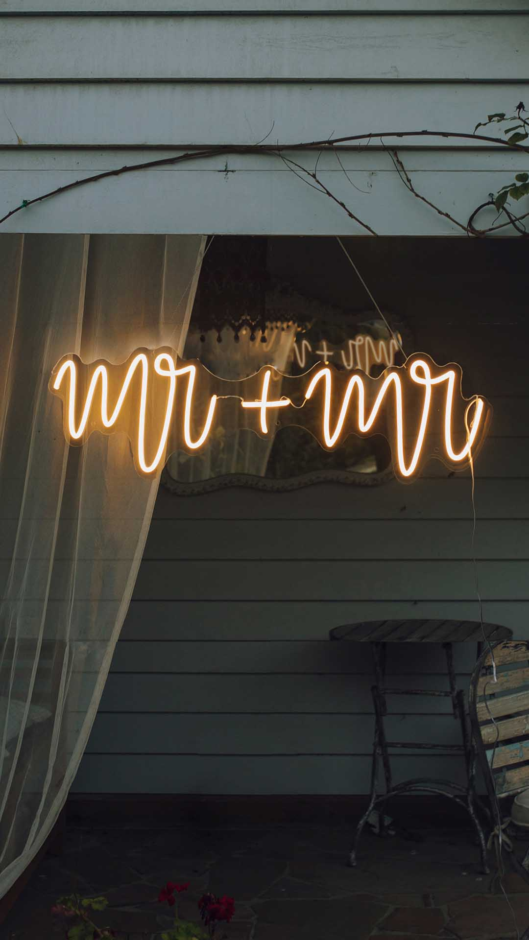 LGBTQ+ Neon wedding sign hire