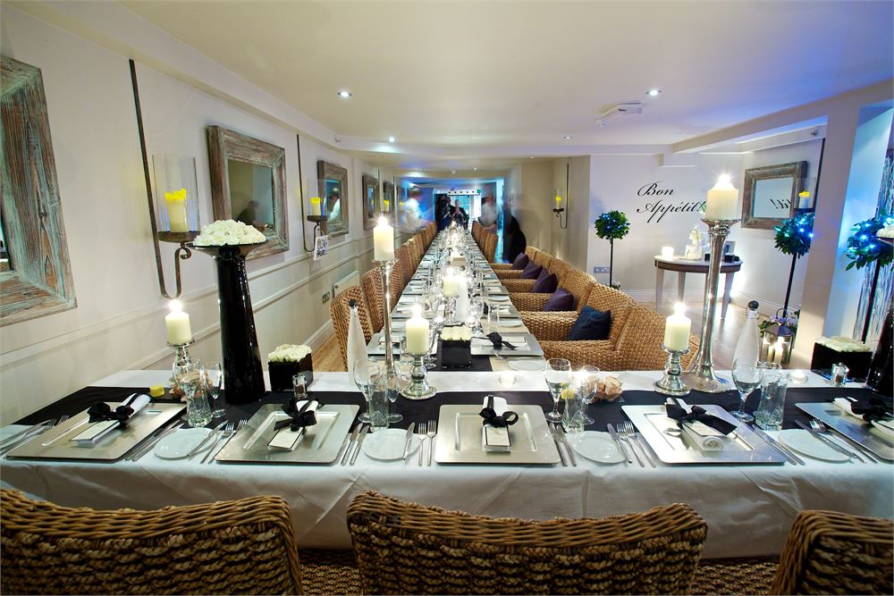 wedding breakfast at The Old Quay House