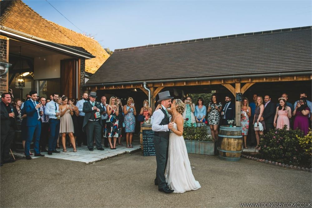 First dance at Three Choirs Vineyard