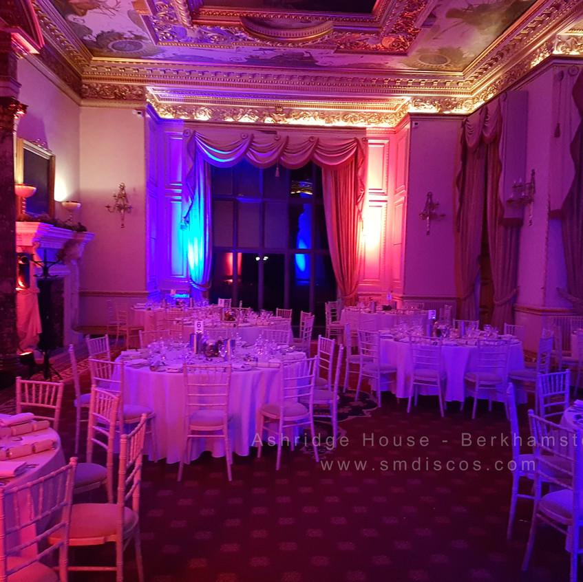 Wedding mood lighting Berkhamsted