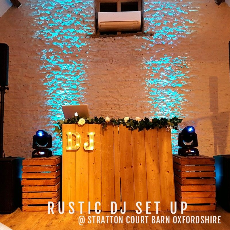 Rustic Wedding DJ Set Up
