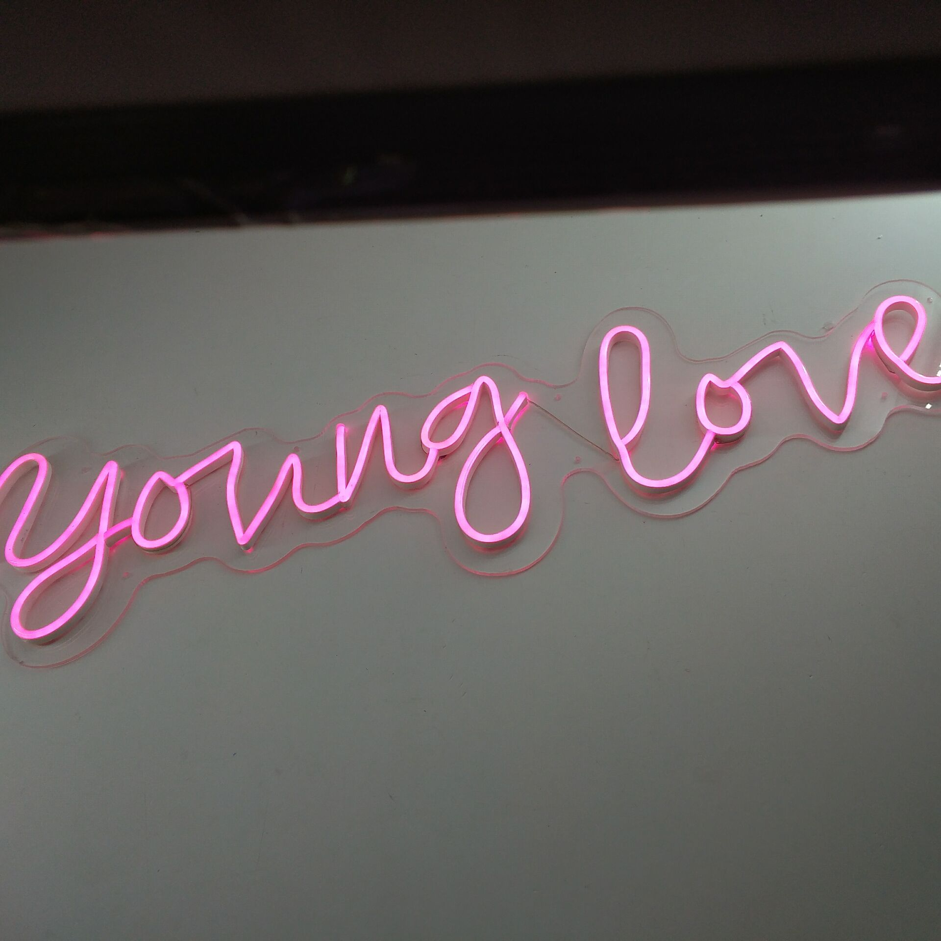 young love neon wedding sign