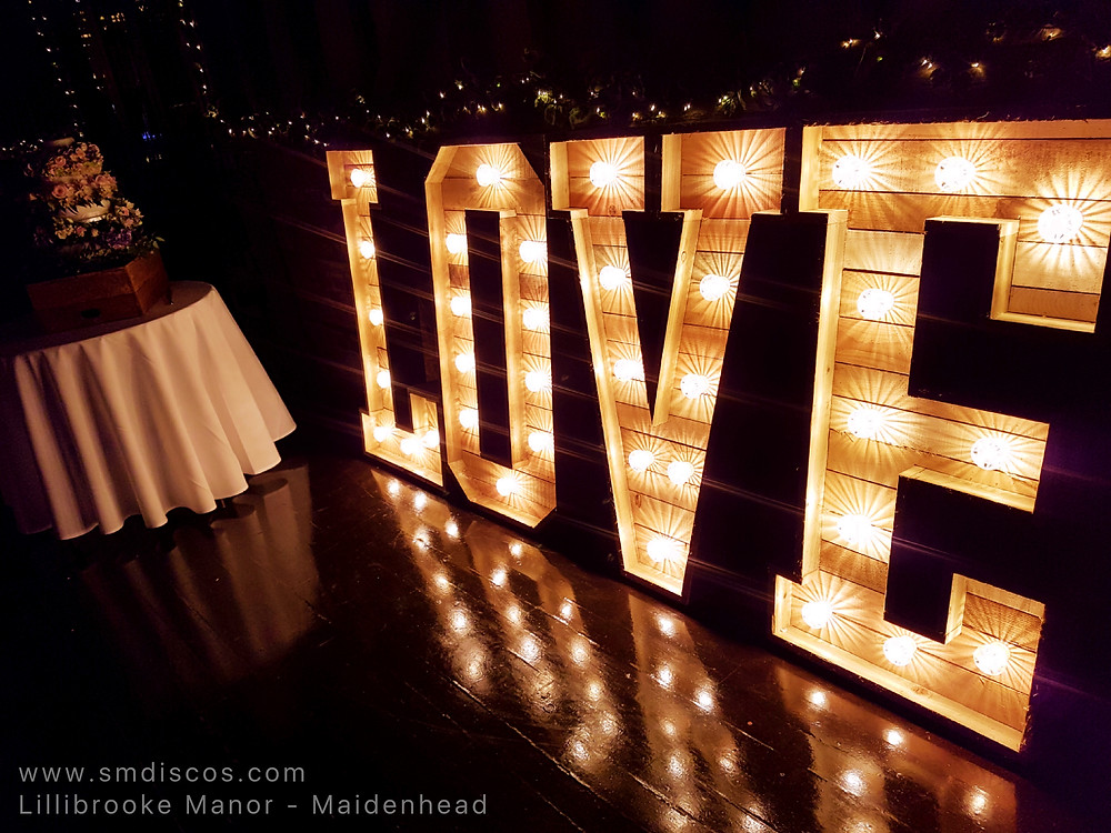Rustic light up love letters
