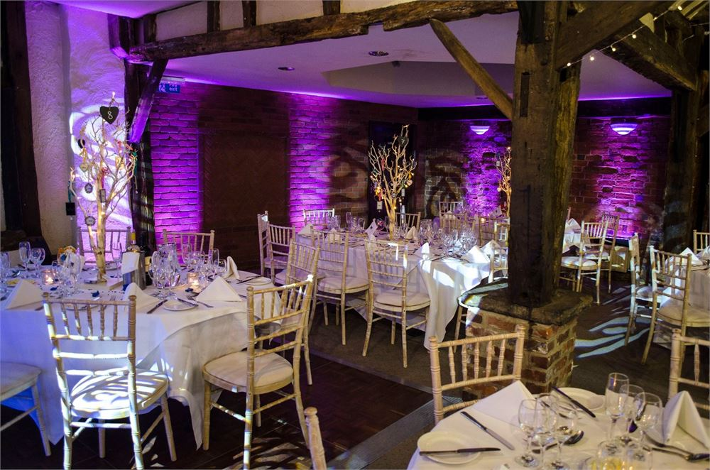 Cantley House Hotel and Barn uplighting