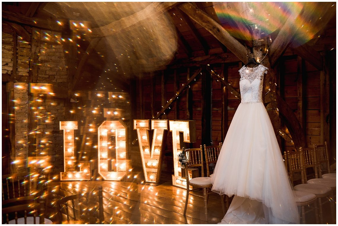 love letters at Bassmead Manor Barns