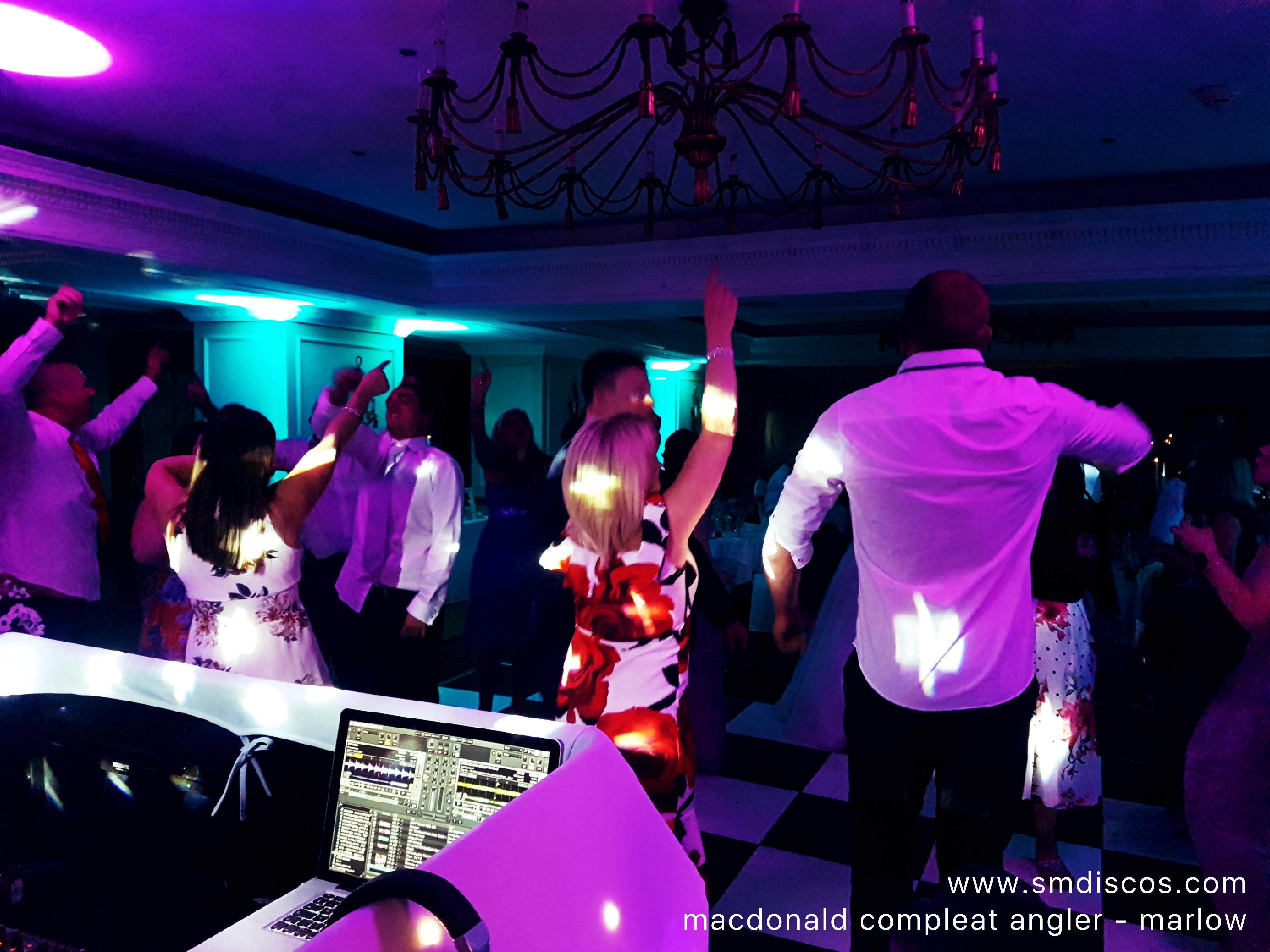 wedding disco in Marlow Buckinghamshire.