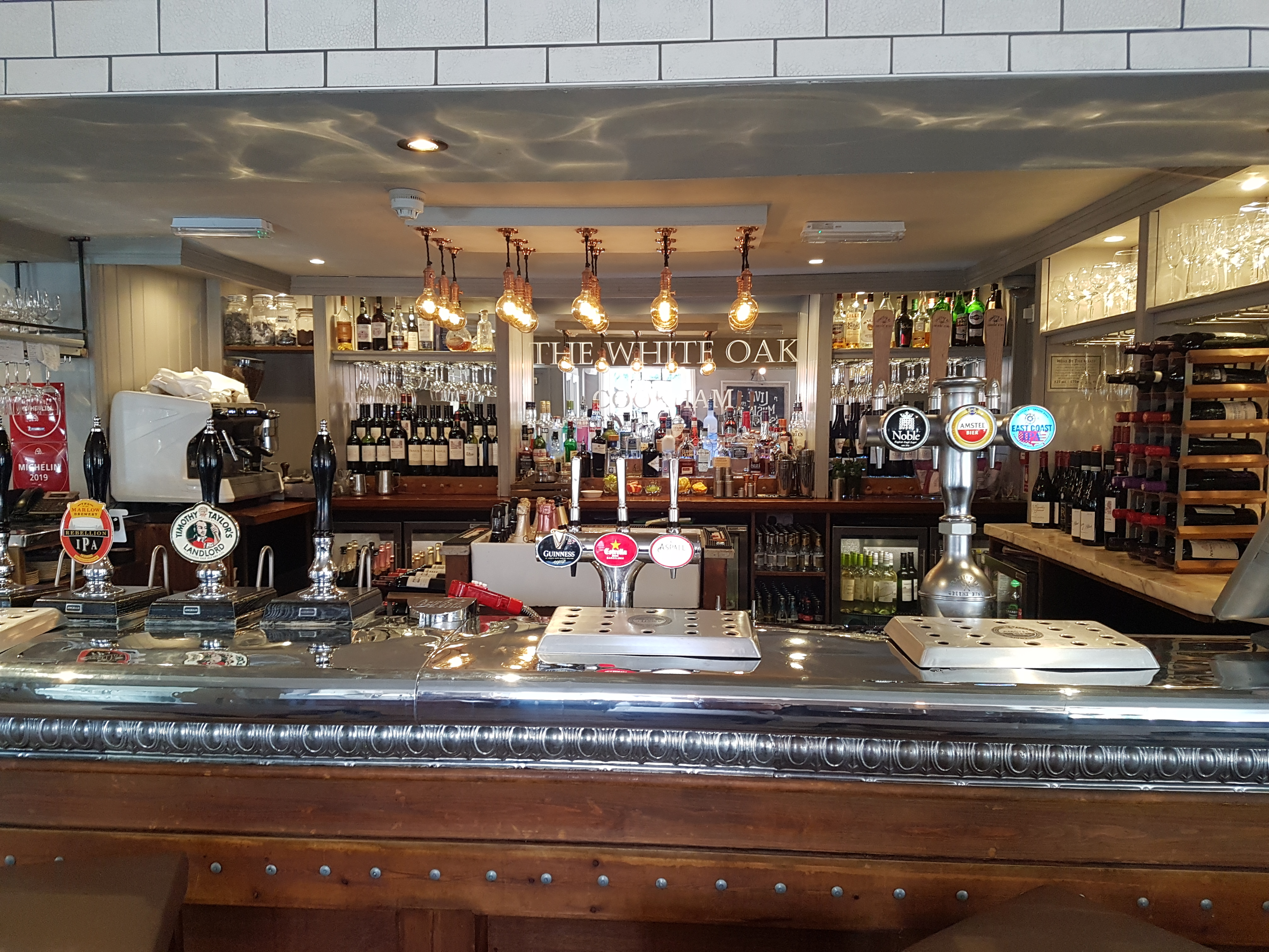 The bar at the white oak in cookham