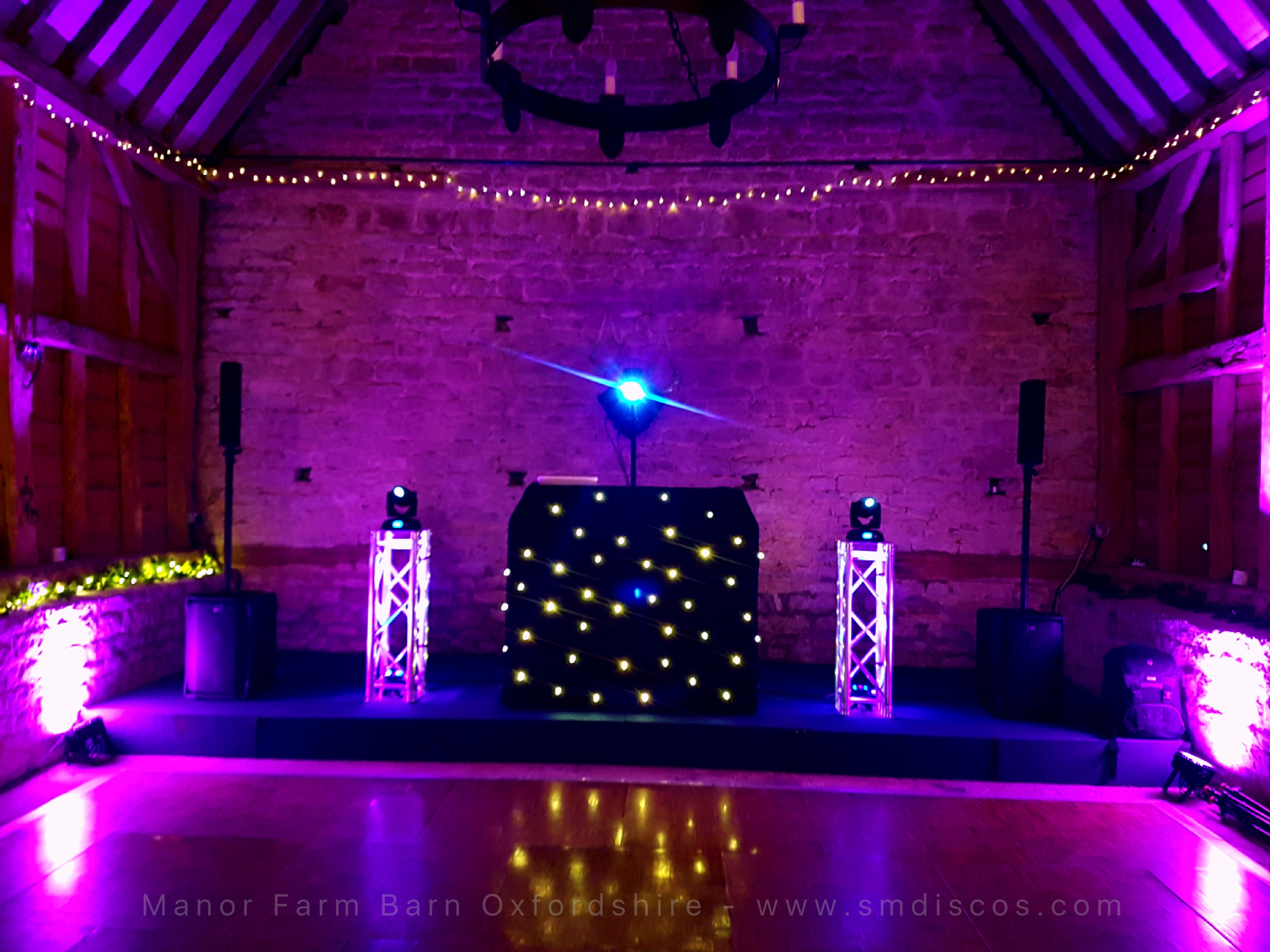 Wedding DJ set up Oxford