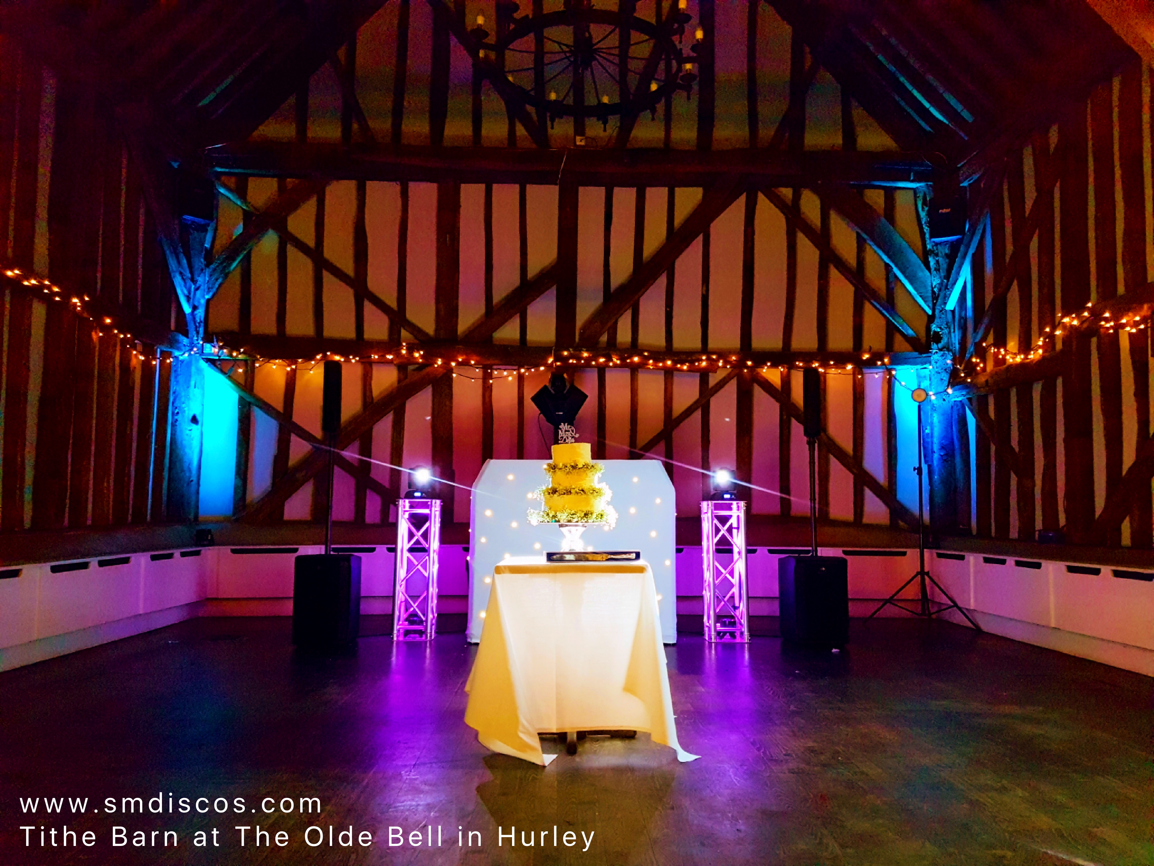 Wedding DJ at Tithe Barn Hurley
