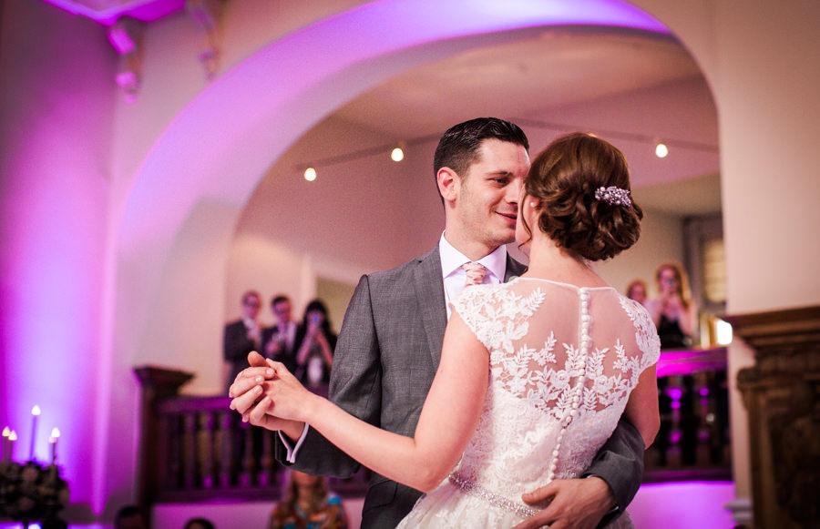 Wedding uplighting Farnham Castle