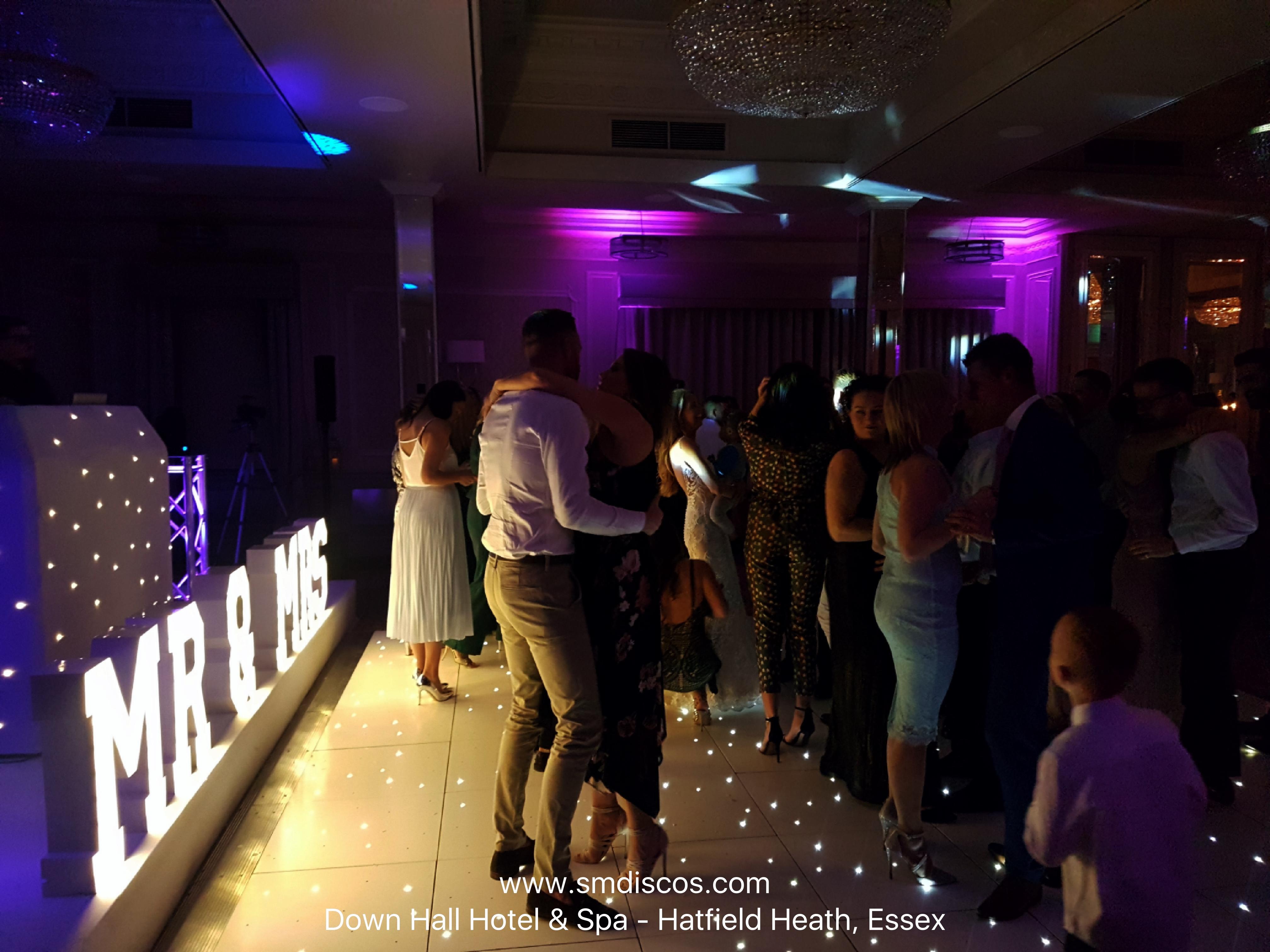 Wedding disco hire Down Hall Hotel