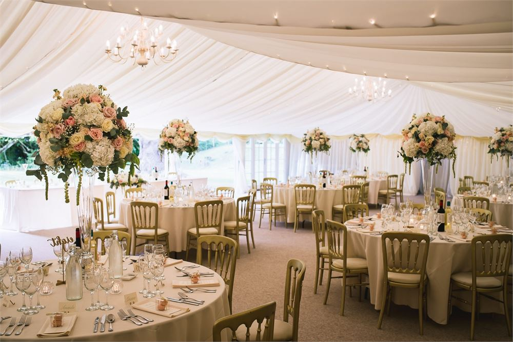 Marquee at Hedingham Castle