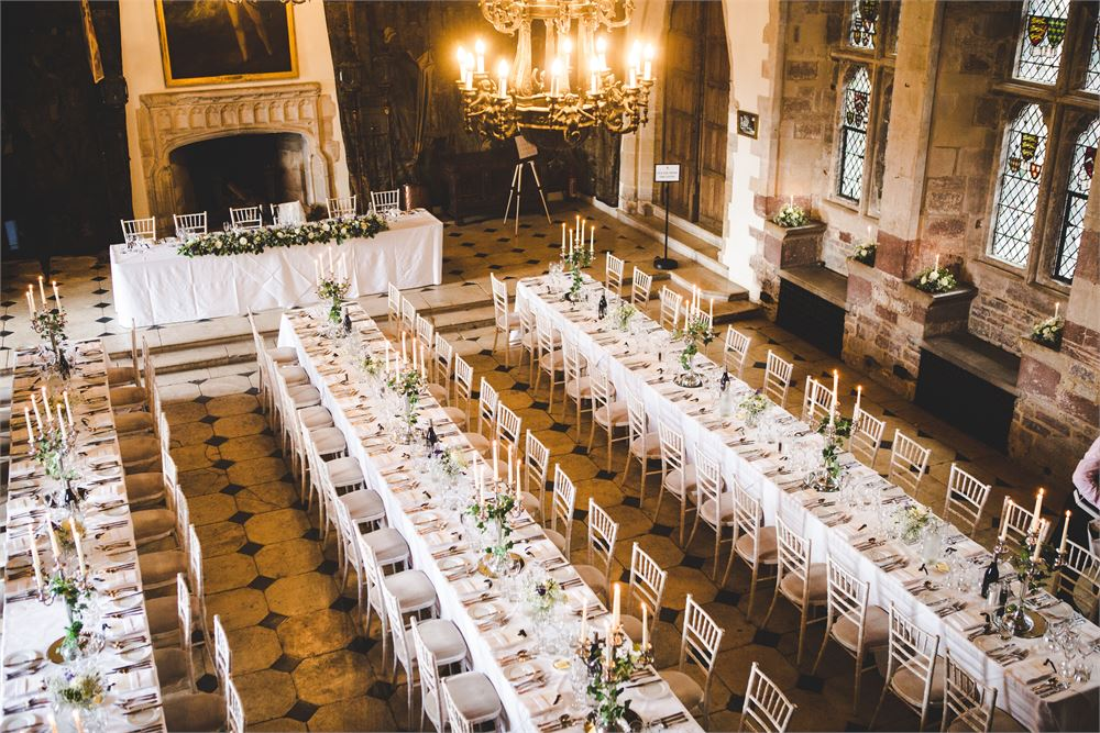 wedding day at Berkeley Castle in Glouce