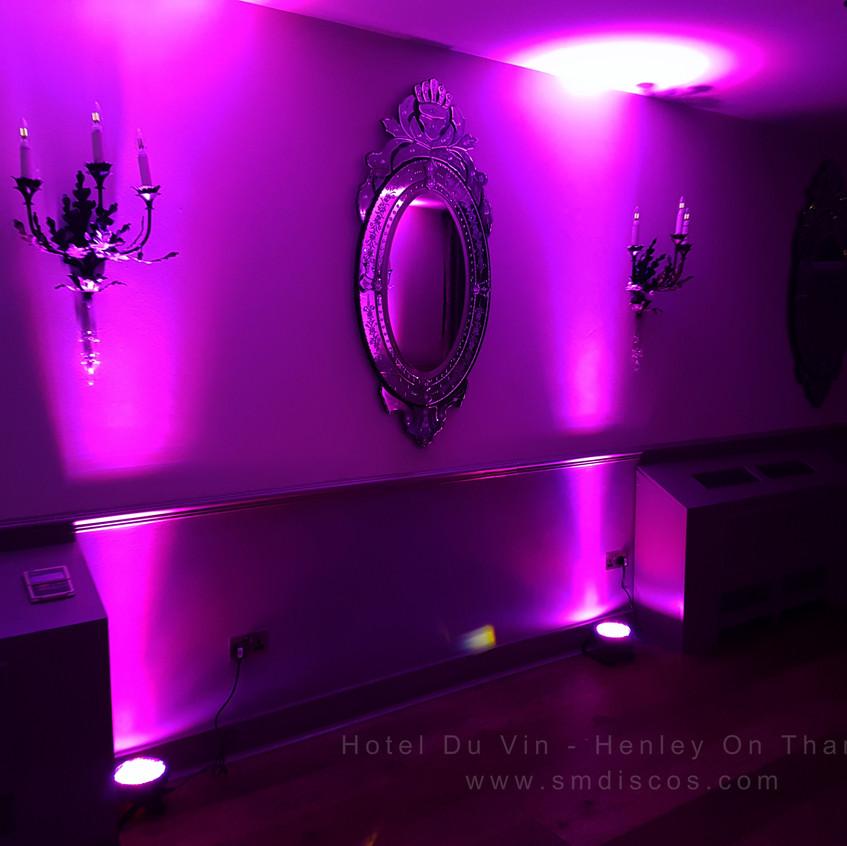 henley on thames uplighting hotel du vin