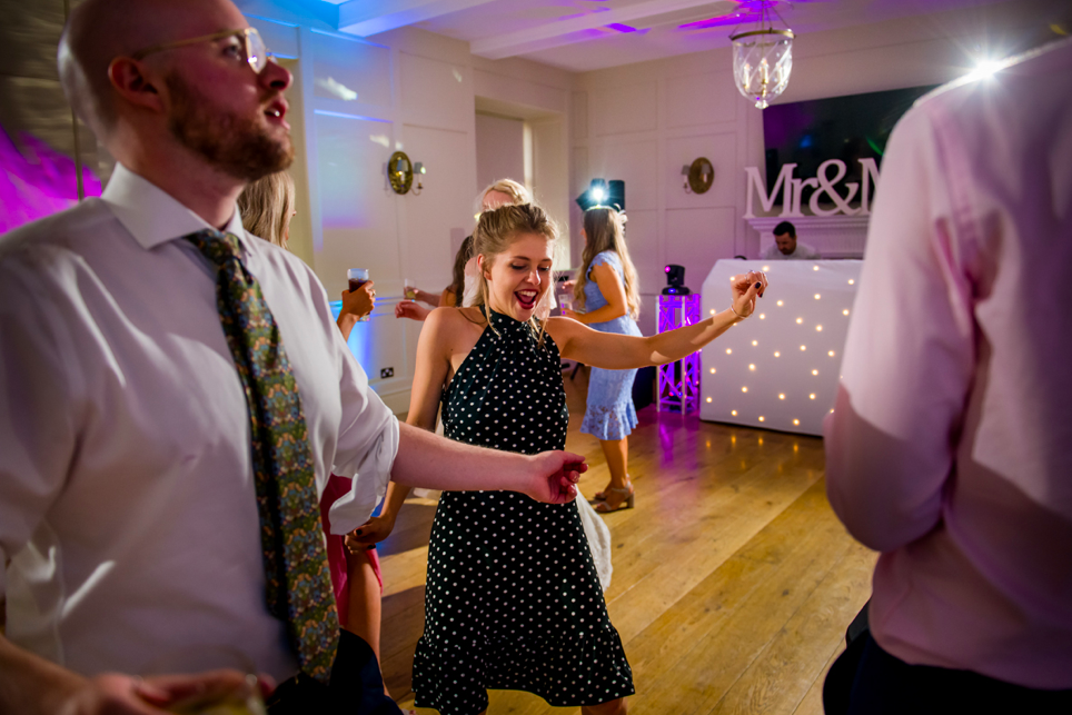 Wedding disco at Hampden House