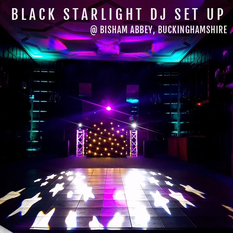 Black Starlight DJ Set Up