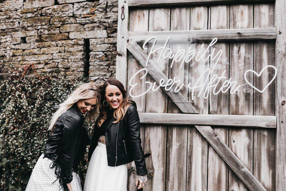 neon signs barn wedding