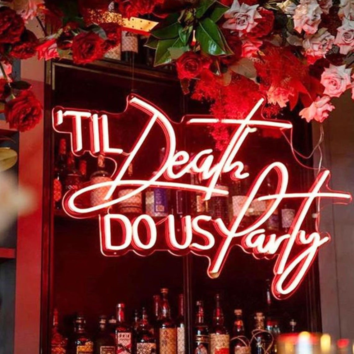 Til Death Do Us Party Neon Light