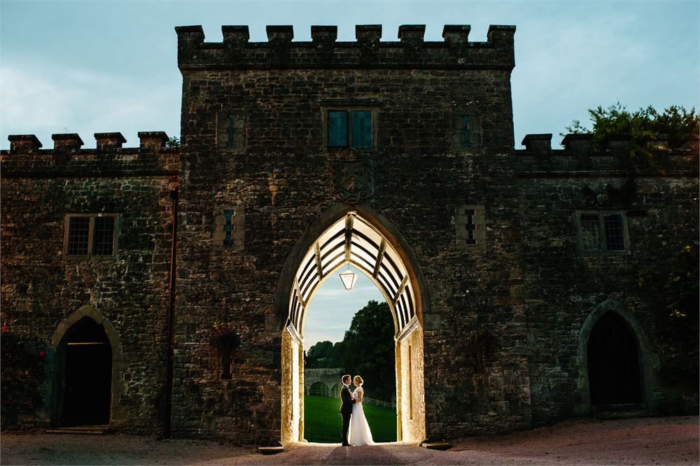 DJs at Clearwell Castle wedding