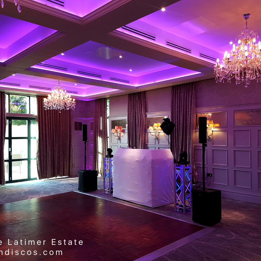Wedding DJ for De Vere Latimer Estate