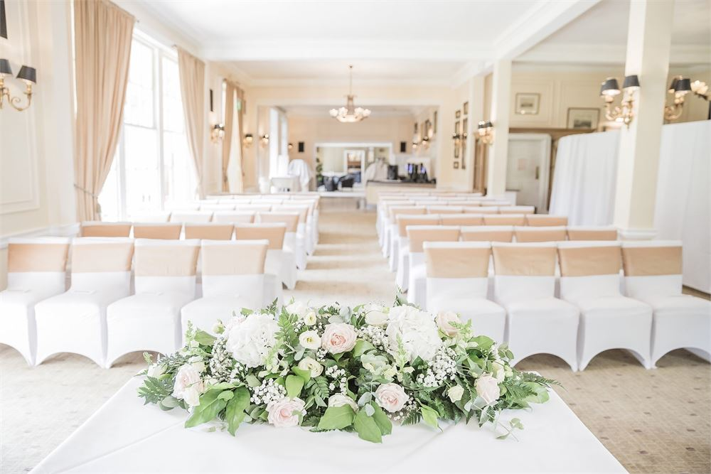 Wedding ceremony Stifford Hall Hotel Ess