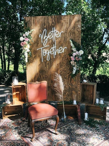 better together wedding neon sign hire .