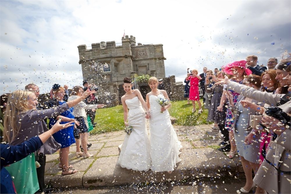 wedding day at Pendennis Castle