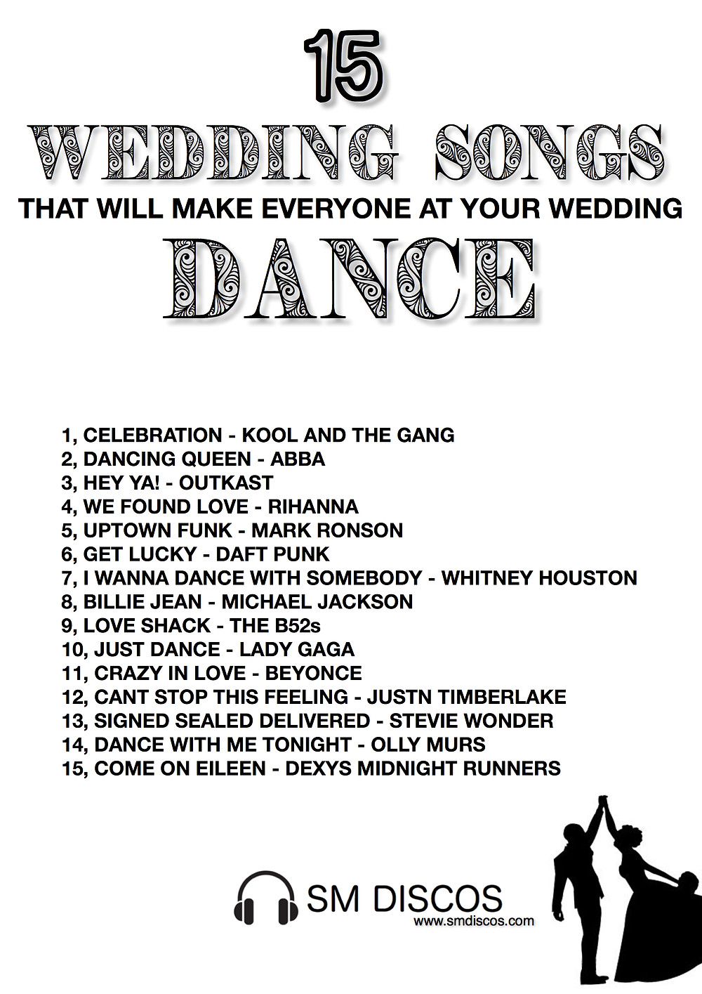15 of the best wedding songs