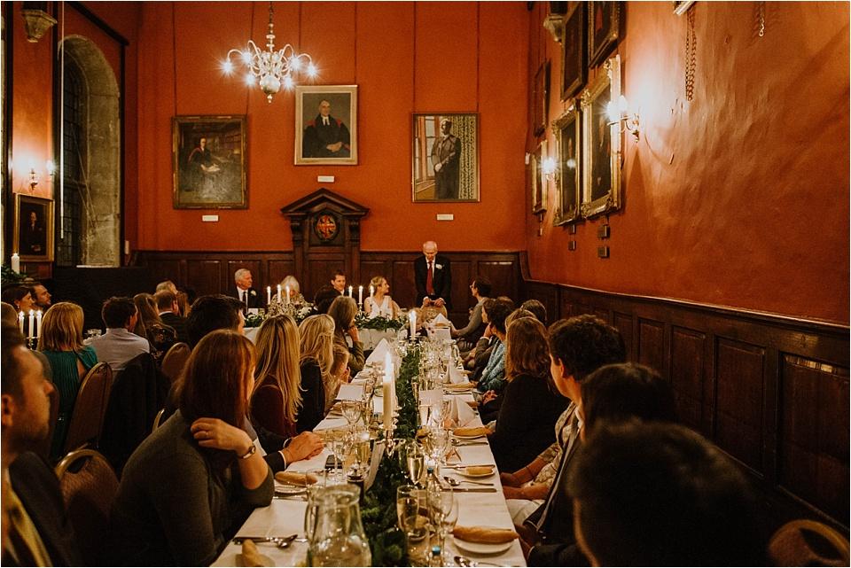Wedding breakfast St Edmund's Hall Oxfor